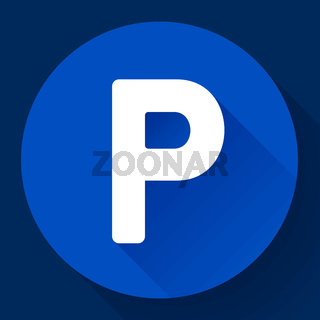 parking lot sign icon flat style vector