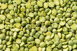 Green split peas.