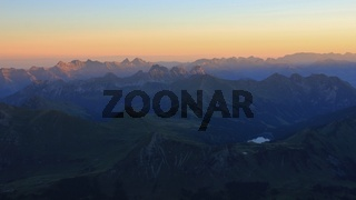 Mountains of the Swiss Alps at sunrise