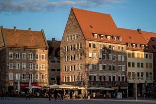 Auf dem Hauptmarkt in Nürnberg
