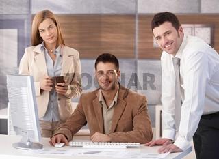 Portrait of happy businessteam