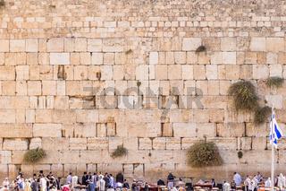 The Western wall in Jerusalem, Israel