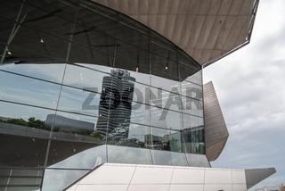 Exterior shot of BMW Welt in Munich