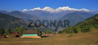 Autumn day in the Annapurna Conservation Area, Nepal