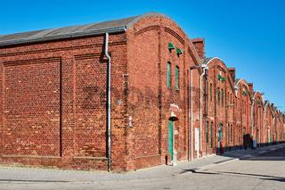 Lagerhallen in Industriegebiet