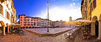 Piazza San Giacomo in Udine sunset panoramic view