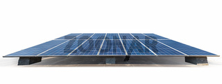solar energy panels isolated