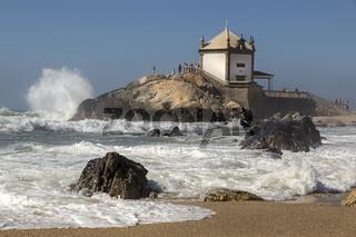 Capela do Senhor da Pedra, Kapelle, Sturm, Portugal, Europa