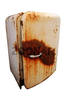 old rusty refrigerator