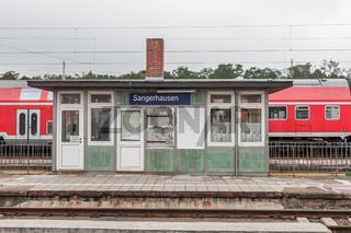 Der alte Bahnhof Sangerhausen (Sachsen-Anhalt)