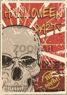 Halloween Party grunge poster