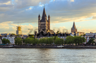 Cologne city skyline , Cologne , Germany