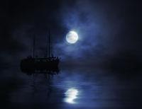 Schiff im Mondlicht