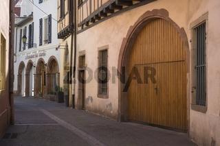 Colmar, Altstadtgasse am Place Cathédral