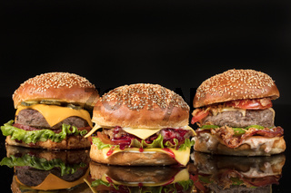Burgers On Black Glass