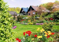 Schöner Garten im Wohngebiet