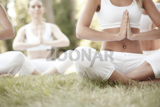 Yoga training at park