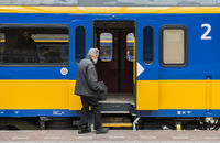 Train Travelers Old Man Rotterdam