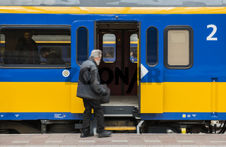 Train Travelers Old Man Rotterdam