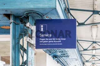 Info-Punkt am Bahnhof Neubrandenburg