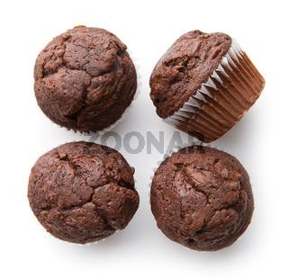 The tasty chocolate muffins.