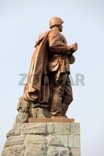 Kriegsdenkmal in Seelow. memorial of war in seelow