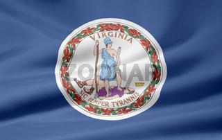 Flagge von Virginia - USA