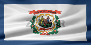 Flagge von West Virginia - USA