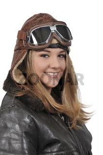 Woman Vintage Aviator