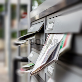 Mail box full of junk mails
