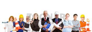 Gruppe aus verschiedenen Berufen