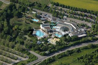 Luftaufnahme Aquatoll Erlebnisbad
