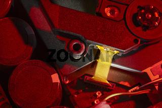 colorful illuminated electronics closeup