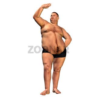 a thick man  than model