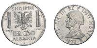 fifty 50 cents LEK Albania Colony acmonital Coin 1939 Vittorio Emanuele III Kingdom of Italy, World war II