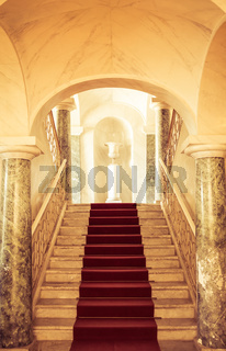 NOTO, ITALY - 21th June 2017: Luxury entrance of Nicolaci Palace, built in 1750