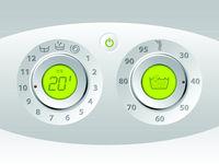 Wash machine manual and digital control panel