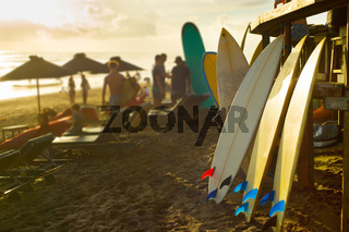 Bali surfers rental of surfboards