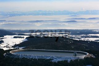 Hornbergbecken, Hochspeicherbecken der Schluchseewerk AG auf dem Hotzenwald