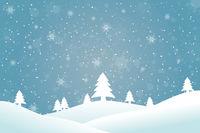 Winterlandschaft Blau