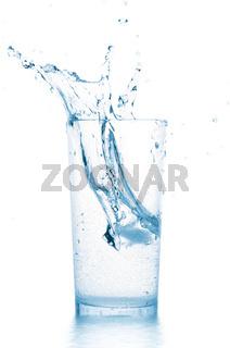 splash in water glass
