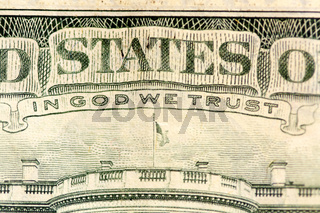 IN GOD WE TRUST / Text auf einem Dollarschein