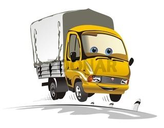 cartoon cargo truck
