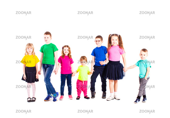 Children of different ages isolated
