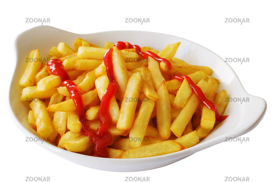 French Fries with Tomato Ketchup
