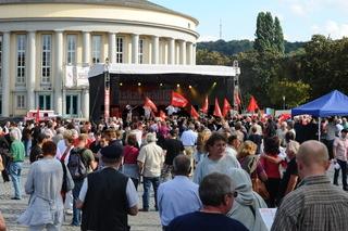 Die Linke auf dem Tibblisser Platz 28.8.2009
