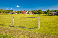 Sveti Martin na Muri village and soccer field view