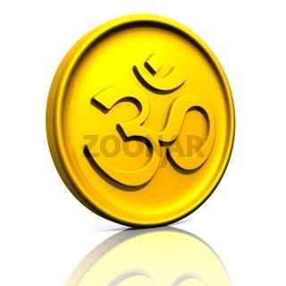 3D - Golden OM sign talisman