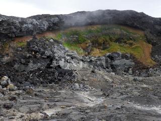 am aktiven Vulkan Leirhnjukur in Island