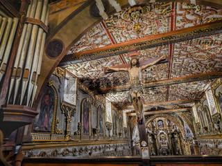 Interior View Latin Baroque Chruch, Quito Ecuador